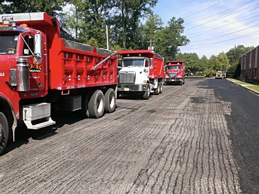 Asphalt Paving Trucks